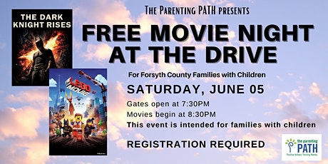 FREE DRIVE-IN MOVIES for Forsyth families sponsored by The Parenting PATH tickets