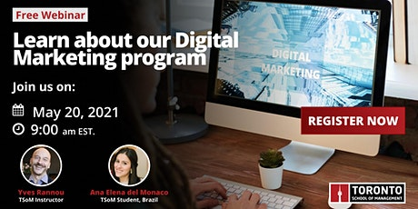 Learn about our Digital Marketing program tickets