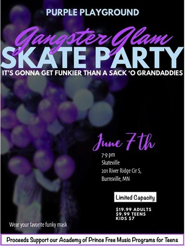 Purple Playground  Gangster Glam New World Skate Party 2021 image
