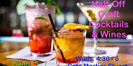 HALF PRICE HAPPY HOUR - Craft Cocktails and Live Music at a Vintage Bar tickets
