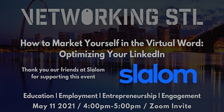"May Vetworking STL ""Optimizing your LinkedIn"" tickets"