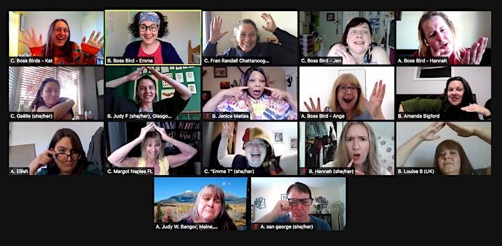 Women of Improv Worldwide Jams. Hosted by Boss Birds Improv image