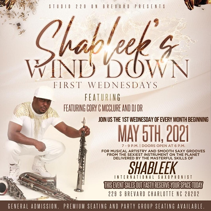 SHABLEEK'S WIND DOWN FIRST WEDNESDAYS featuring CoryC MCCLURE & DJ DR image