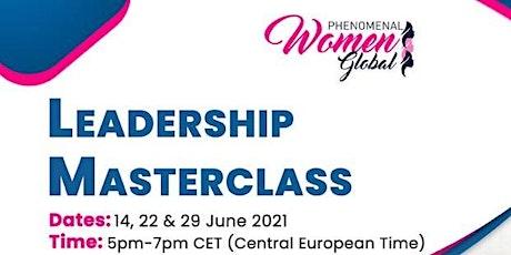 Masterclass: Leadership tickets