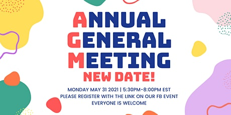 AGM 2021 Registration - Inscription à l'AGA 2021 billets
