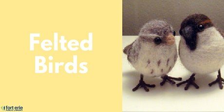 Adult Craft Kit - Felted Birds tickets