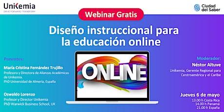 Webinar: Diseño instruccional para la educación online boletos