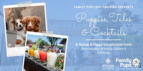 Puppies, Tales & Cocktails: A Human & Puppy Socialization Event tickets