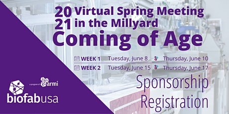 2021 Virtual Spring Meeting in the Millyard Sponsorship Registration tickets