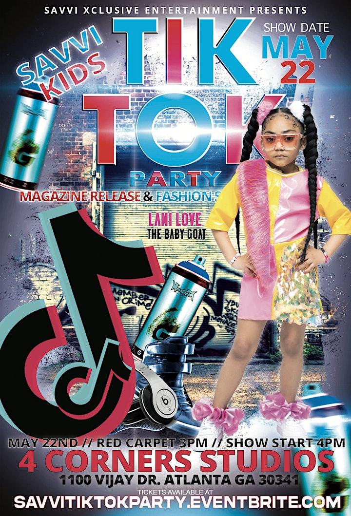 SAVVI KIDS OF ATLANTA TIK TOK PARTY, FASHION SHOW & MAGAZINE RELEASE image