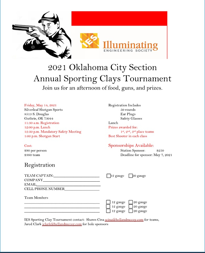 2021 Oklahoma City Section Annual Sporting Clays Tournament image