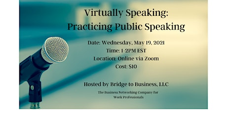 Virtually Speaking: Practicing Public Speaking tickets