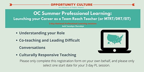OC Summer Professional Learning: Launching Your Career as a TRT/MTRT tickets