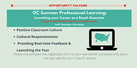 OC Summer Professional Learning: Launching Your Career as a Reach Associate tickets