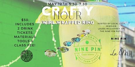 Nine Pin  x La OM Jewelry Host a Wire Wrap Ring Craft & Sip Class! tickets