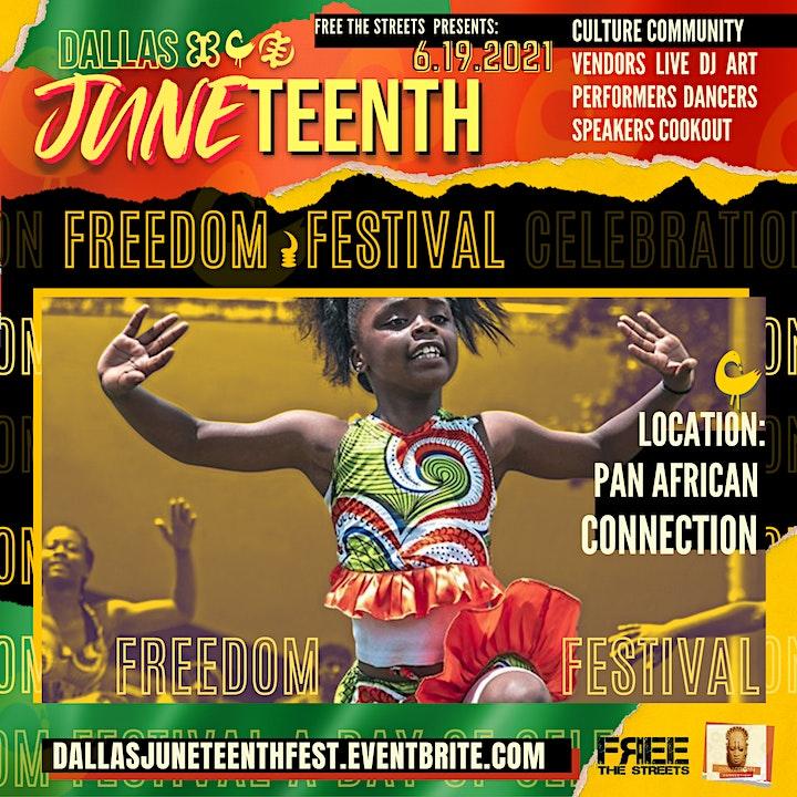 Dallas Juneteenth Freedom Fest 2021- VENDORS image