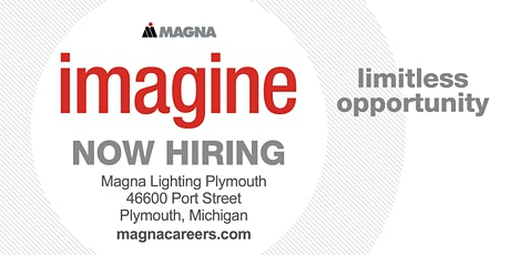 Magna International -Autosystems of America Hiring Event Phase 1 tickets