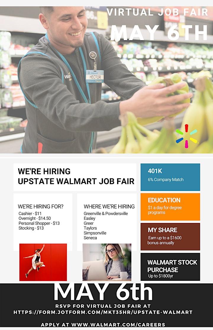 Walmart Upstate Virtual Job Fair image