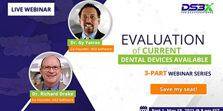 Evaluation of Current Dental Devices Available - 3-Part Webinar Series tickets