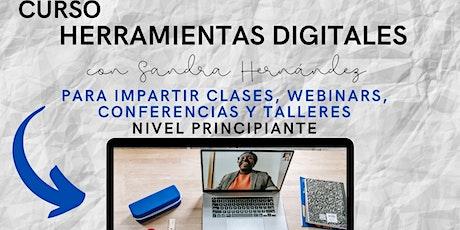 Herramientas digitales para impartir clases, webinars, conferencias boletos