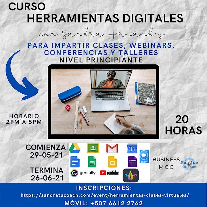Imagen de Herramientas digitales para impartir clases, webinars, conferencias