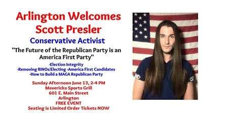 Arlington Welcomes Scott Presler tickets