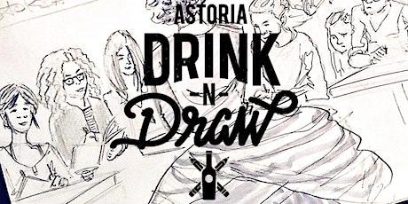 Tuesday 5/11 Astoria Drink N' Draw Online tickets