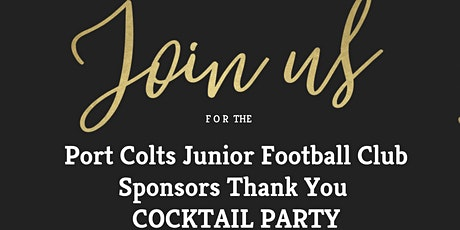Port Colts Junior Football Club Member and Sponsor Cocktail Party tickets
