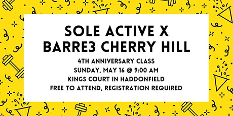 Sole Active Anniversary Class with barre3 Cherry Hill tickets