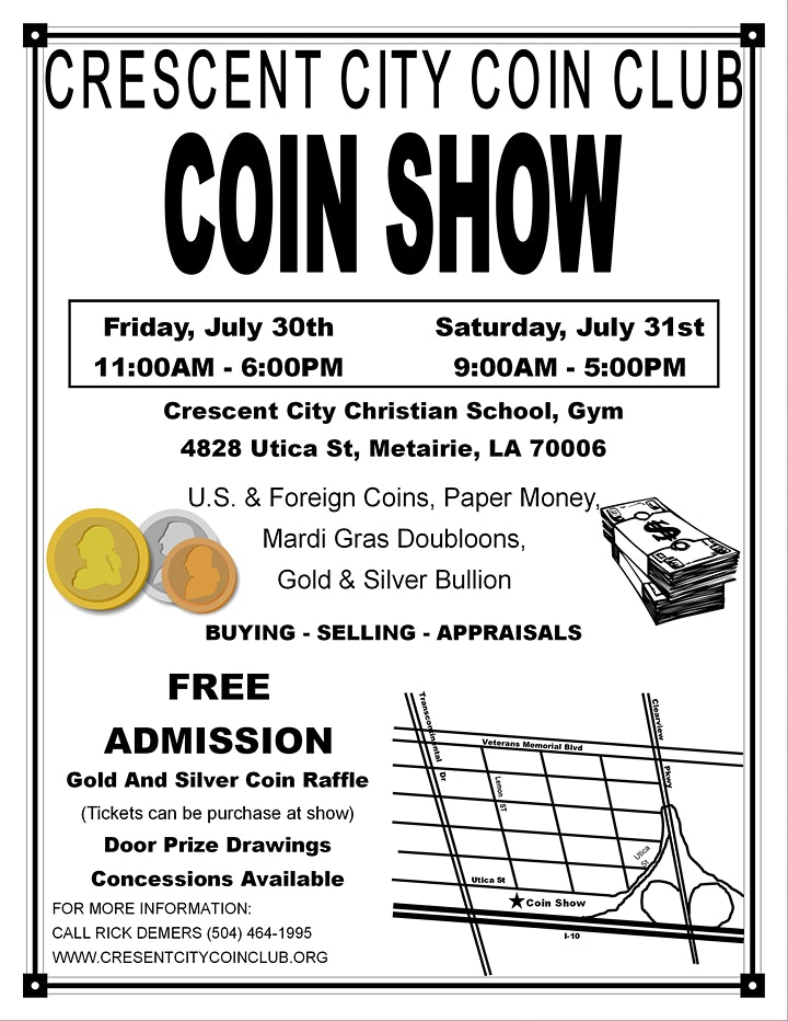 Crescent City Coin Club Coin Show image