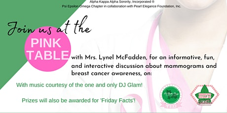Pink Table Talk: Mammograms and Breast Cancer Awareness tickets