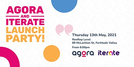 Agora and Iterate Rooftop Launch Party 2021 tickets