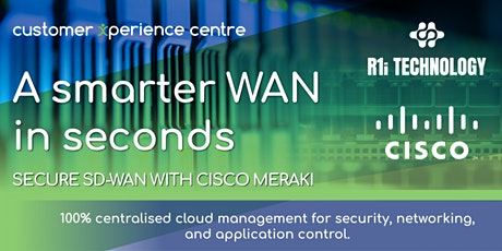 R1i Xpert Sessions - A Smarter WAN in Seconds tickets