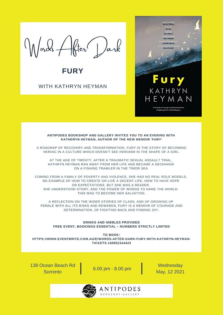 Words After Dark - 'Fury' with Kathryn Heyman image