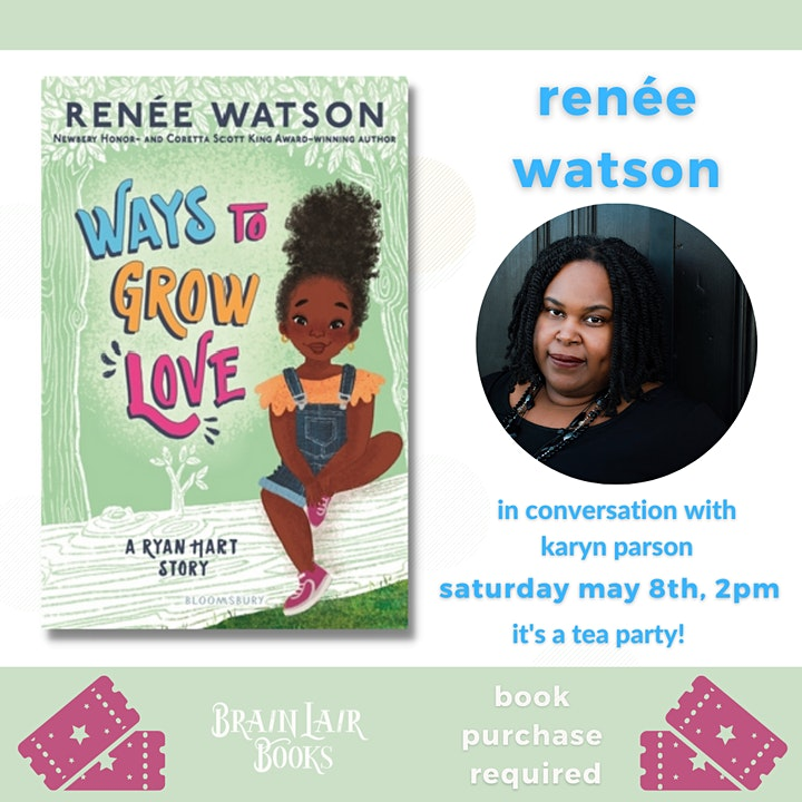 A Ryan Hart Tea Party with Renée Watson  with Karyn Parsons *POSTPONED* image