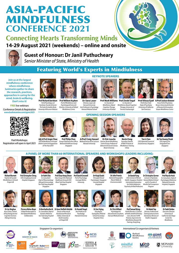 Asia Pacific Mindfulness Conference 14-29 Aug 2021 image