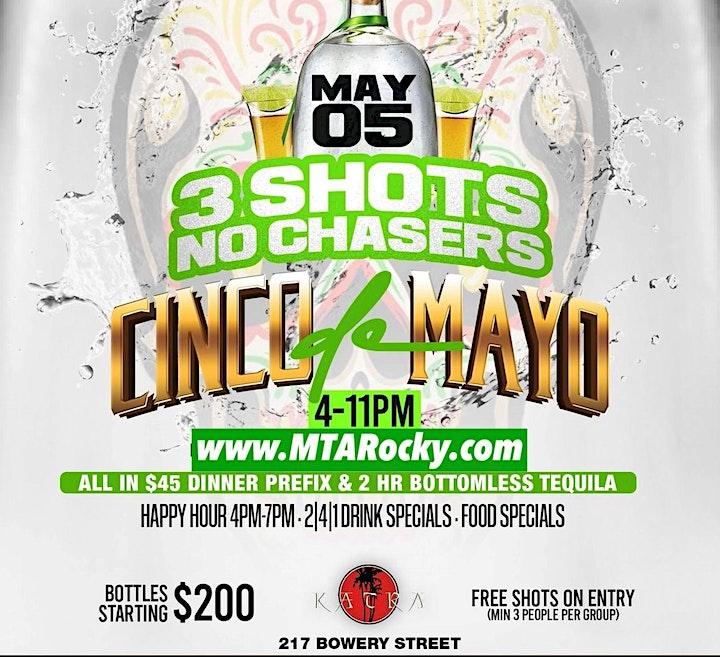 5.05 | CINCO DE MAYO - 3 Shots No Chaser | #MTARocky image