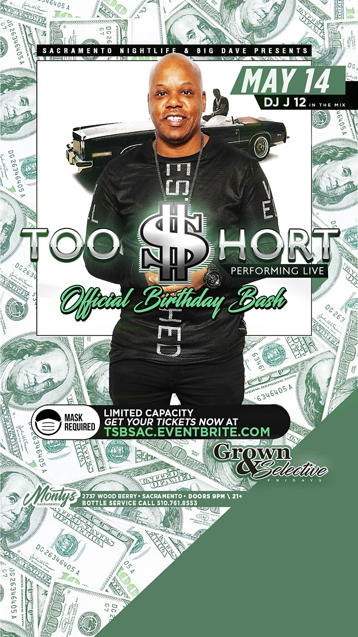 Too Short's Official Birthday Bash & Live Performa image