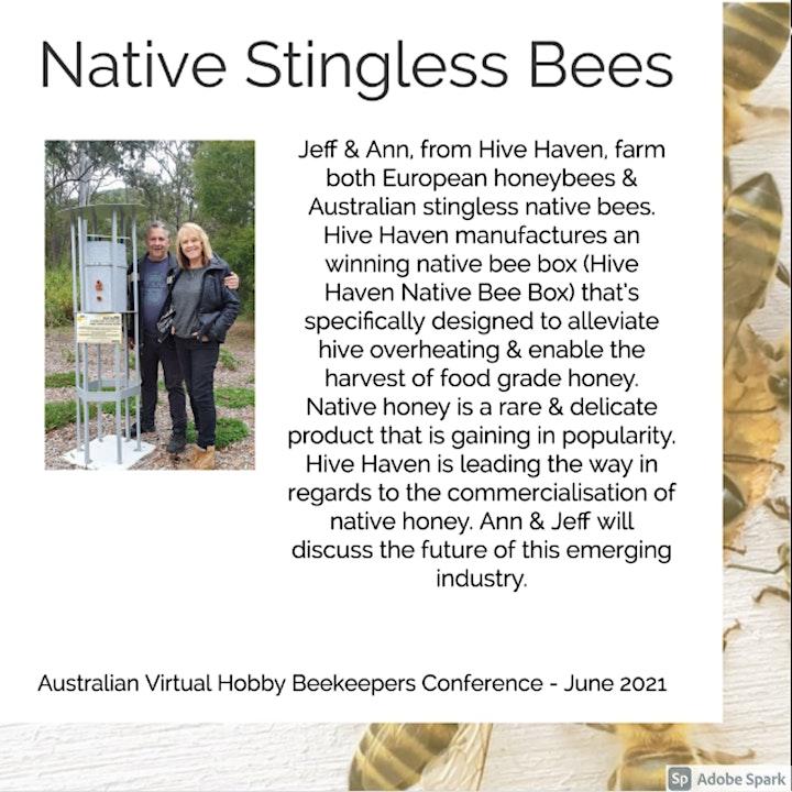 Australian Virtual Hobby Beekeepers Conference June 2021 image