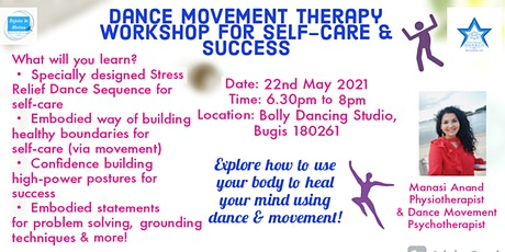 Dance Movement Therapy Workshop for Self-Care & Success tickets