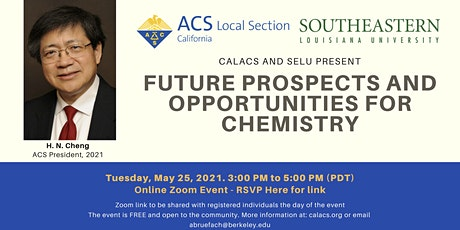 Future Prospects and Opportunities for Chemistry, ACS President H.N. Cheng tickets