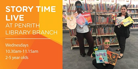 Story Time LIVE at Penrith Library Branch tickets