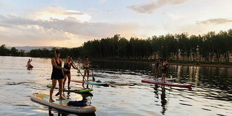 Summer's SUP social sunset paddle tickets