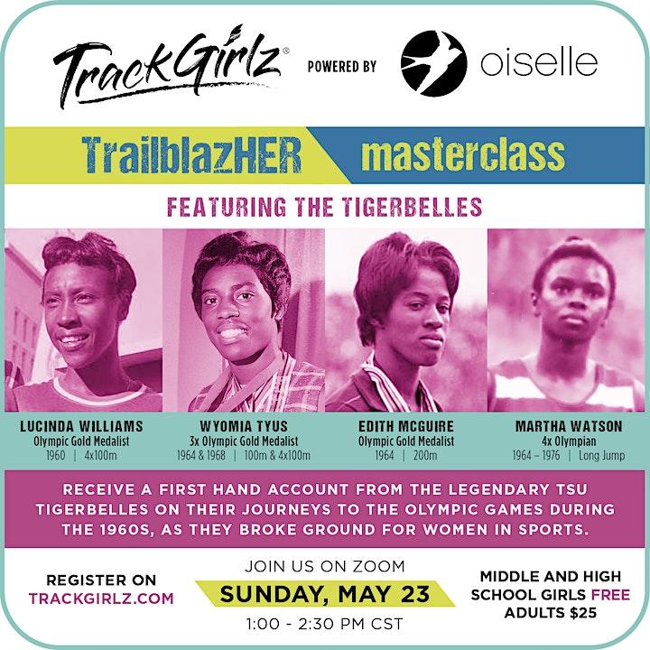 TrackGirlz TrailblazHER Virtual Masterclass image