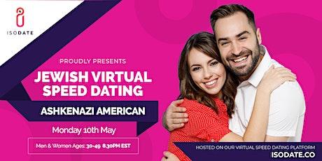 Isodate's Ashkenazi Jewish Virtual Speed Dating tickets