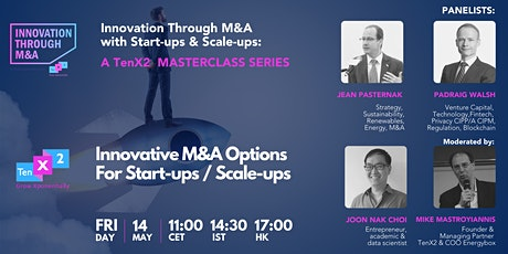 Innovative M&A Options  For Start-ups / Scale-ups Tickets