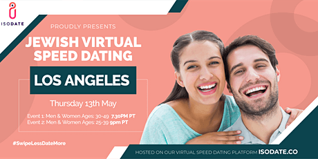 Isodate's Los Angeles Jewish Virtual Speed Dating tickets