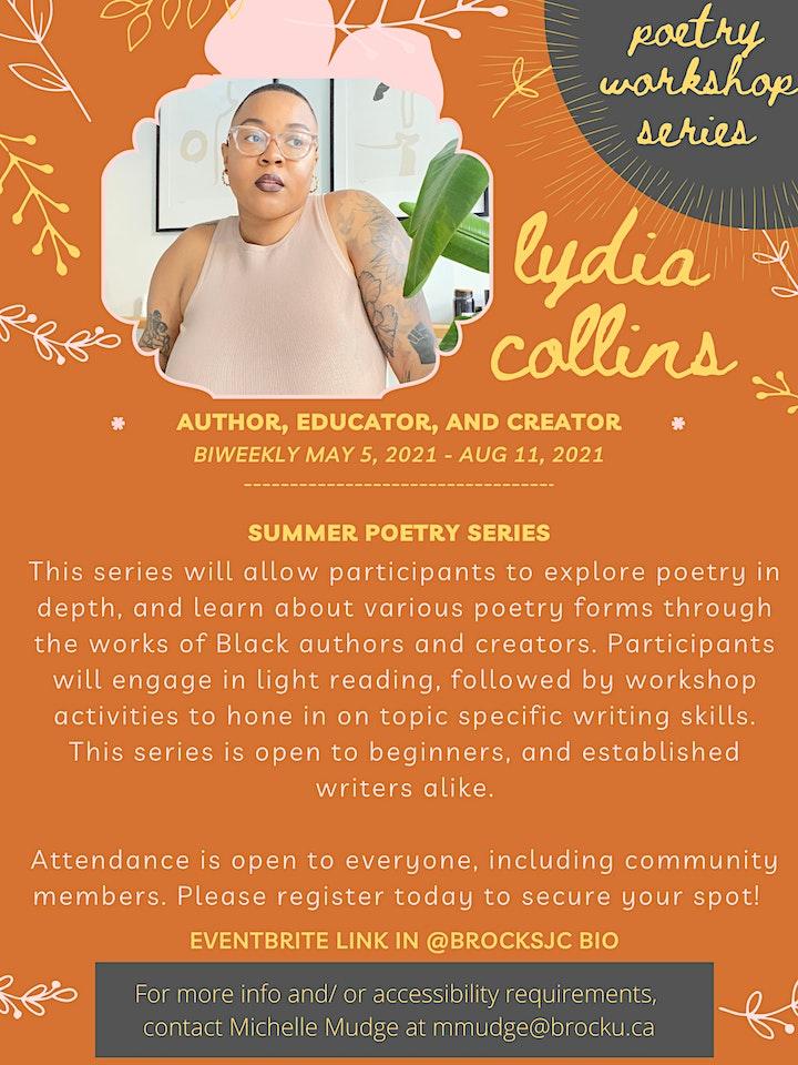 Summer Poetry Workshop Series w/ Lydia Collins! image