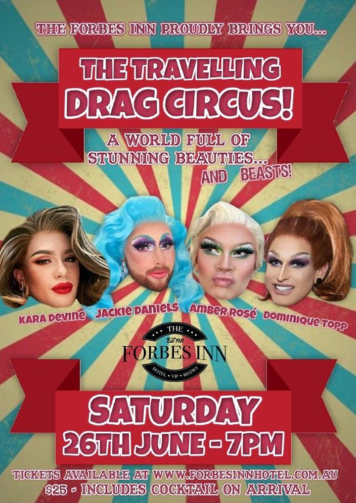 The Liquor Sisters travelling Drag Circus at the Forbes Inn image