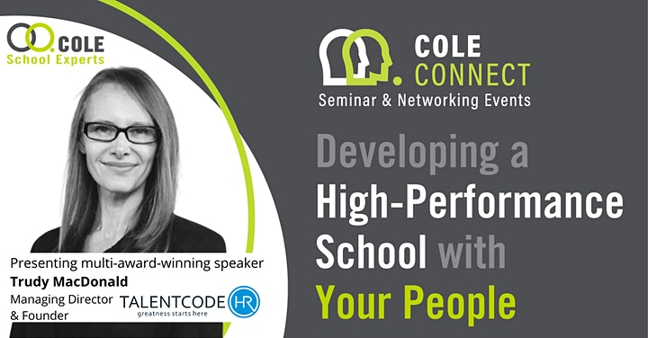 Developing a High-Performance School with Your People + MASTERCLASS! image